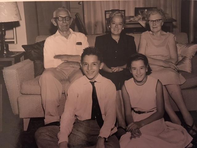 Edward F Shortt, Grace Madeleine Shortt Braca, Delia Shortt, Front - Ed Braca, Mary Ann Braca Keegan copy